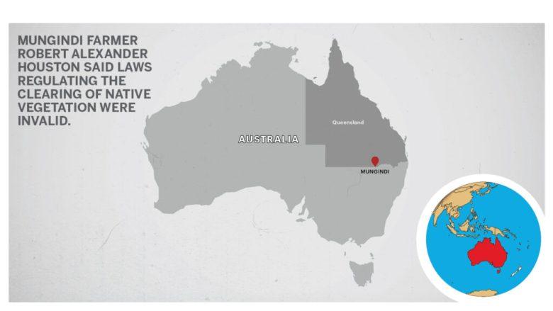 Map of Mungindi Queensland, Australia.