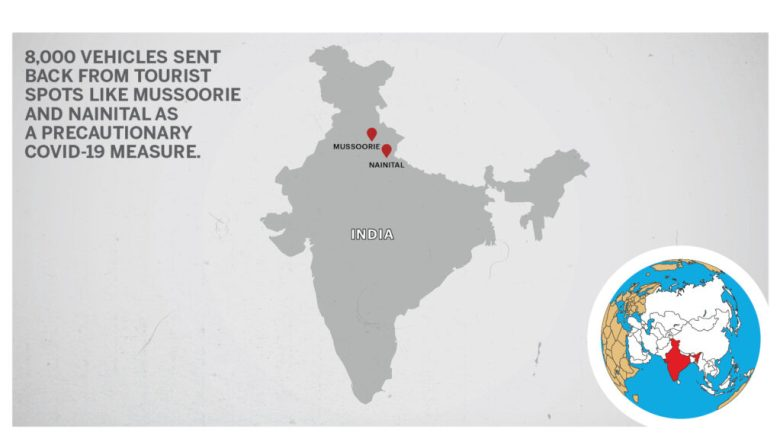 Map of Mussoorie Nainital India