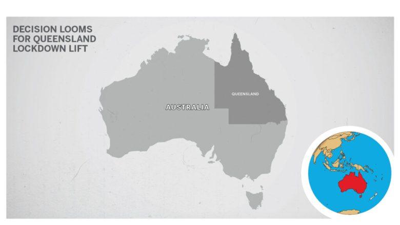 Map of Queensland Australia