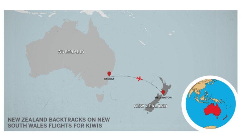 Map of Sydney to Wellington