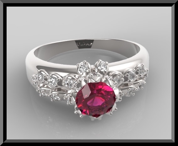 Ruby And Diamond Engagement Ring Vidar Jewelry Unique