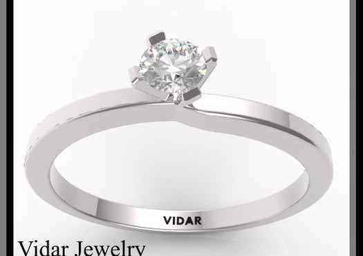 Custom Wide Band Princess Cut Diamond Engagement Ring