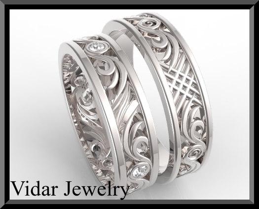 Diamond Matching Wedding Band Vidar Jewelry Unique