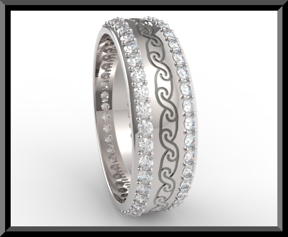 Womens Diamond Wedding Band Platinum Vidar Jewelry