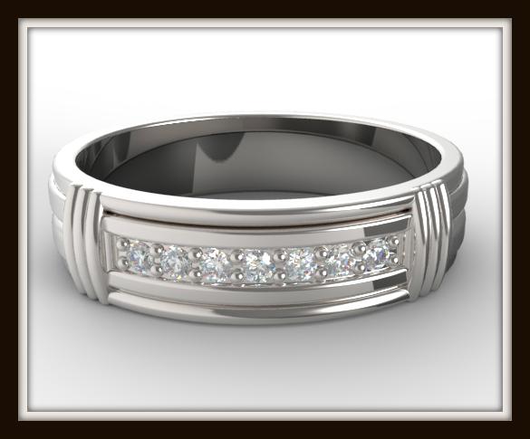 Diamond Gold Wedding Rings For Men Vidar Jewelry