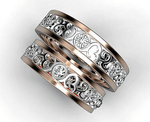 His And Her Diamond Matching Ring Vidar Jewelry Unique