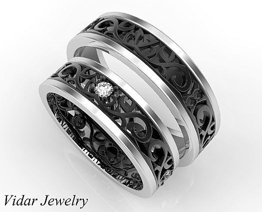 unique matching wedding bands his and hers
