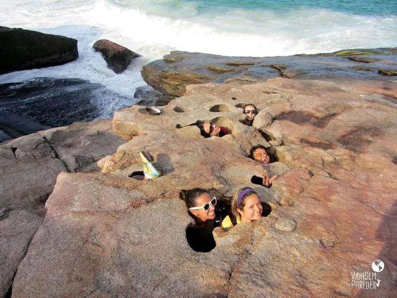 praias selvagens do Rio: Pedra da Lua