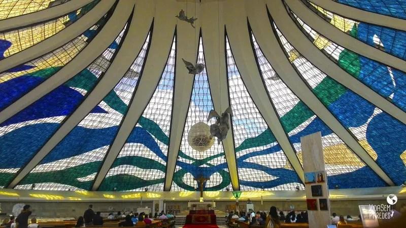 Interior da Catedral - Atrações de Brasília