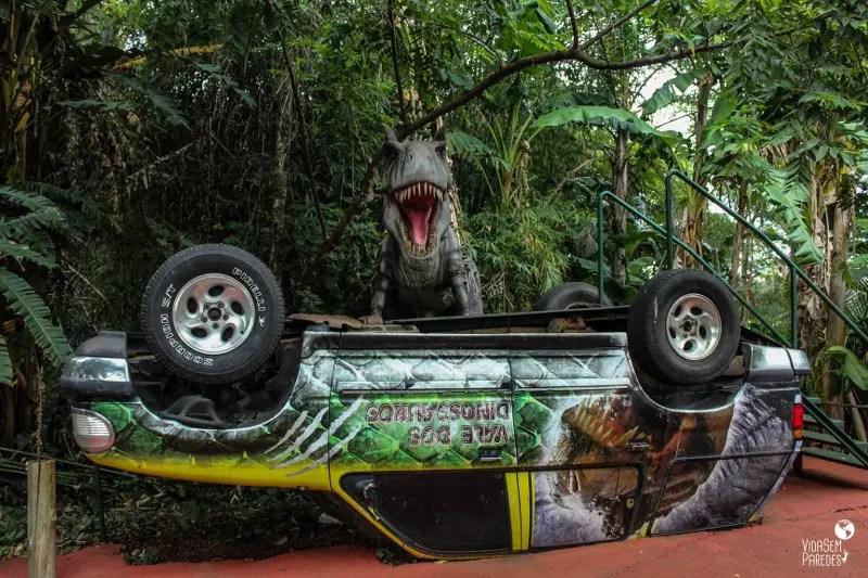 Como funciona a visita ao Vale dos Dinossauros e Maravilhas do Mundo