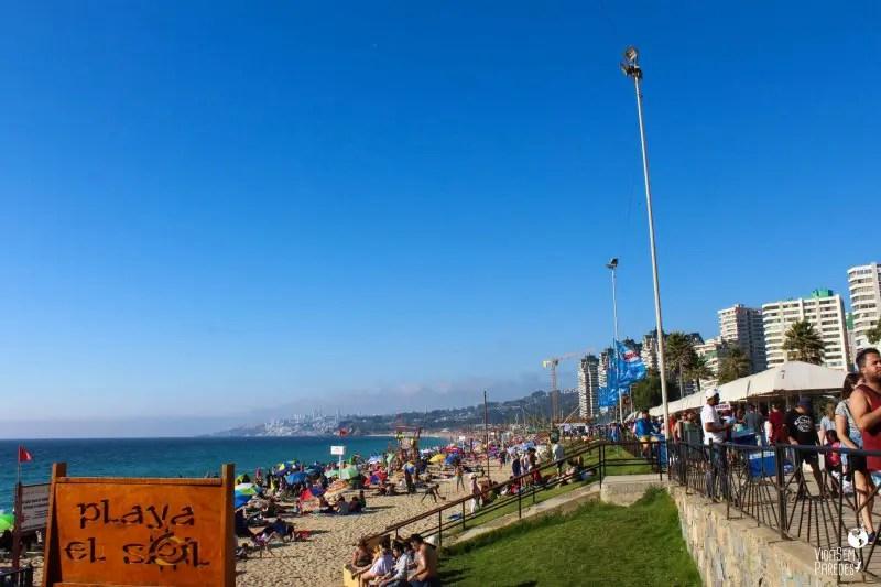 Principais praias em Viña del Mar, Chile
