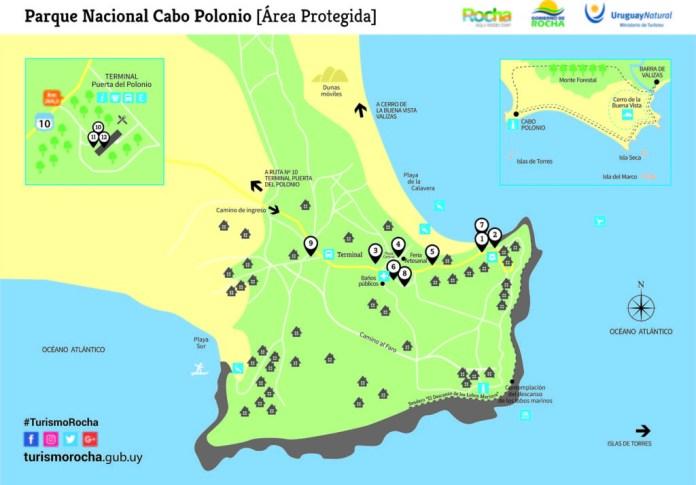 mapa cabo polonio