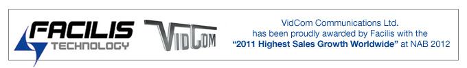 VidCom Awarded by Facilis & NewTek