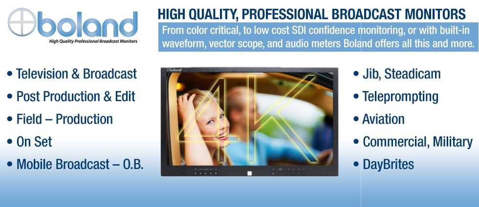 Boland :: Professional Broadcast Monitors :: 4K