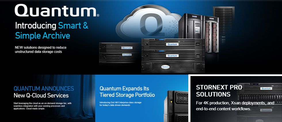 Quantum :: Leading experts in scale-out storage, archive and data protection
