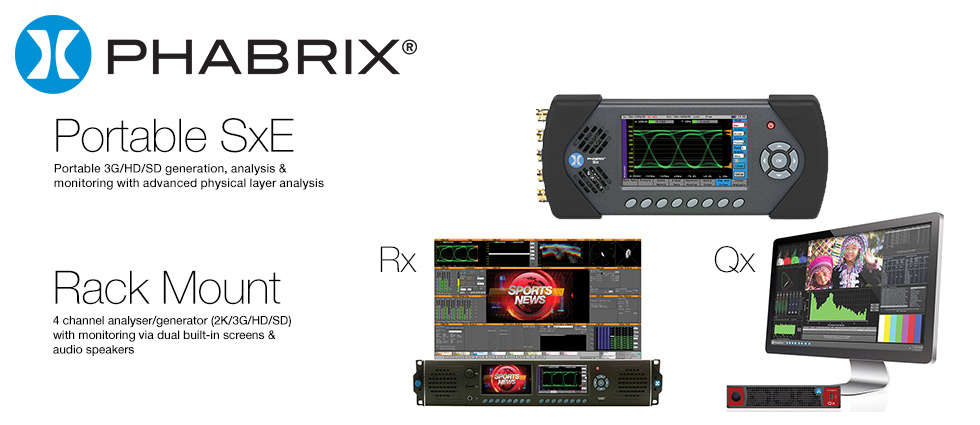Phabrix Portable and Rackmount Waveform Vectorscopes