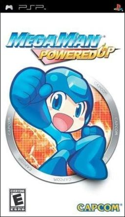 Cover art for the PSP game Mega Man Powered Up