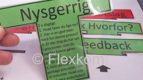 Eksempel på et vigtigt T-kort til en leder i en Lean implementering