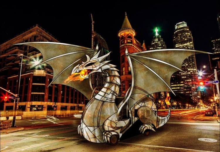'Game of Thrones' Has Nothing on this Fire-Breathing Dragon Burning Man Bus