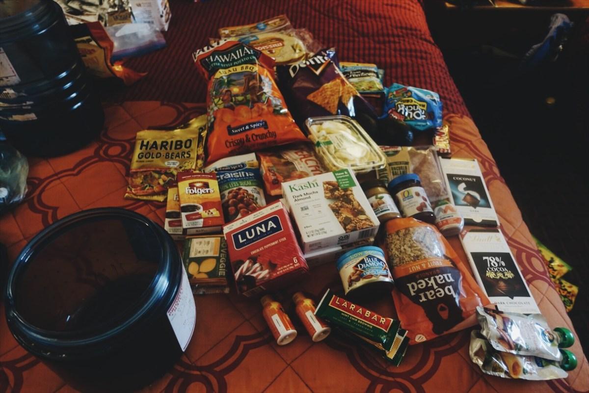 Ayesha Cording full food resupply PCT-2018 hike