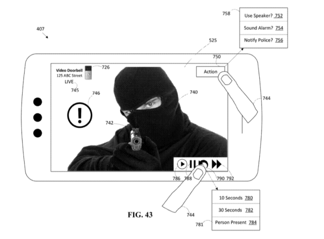 Picture from Amazon/Ring patent.