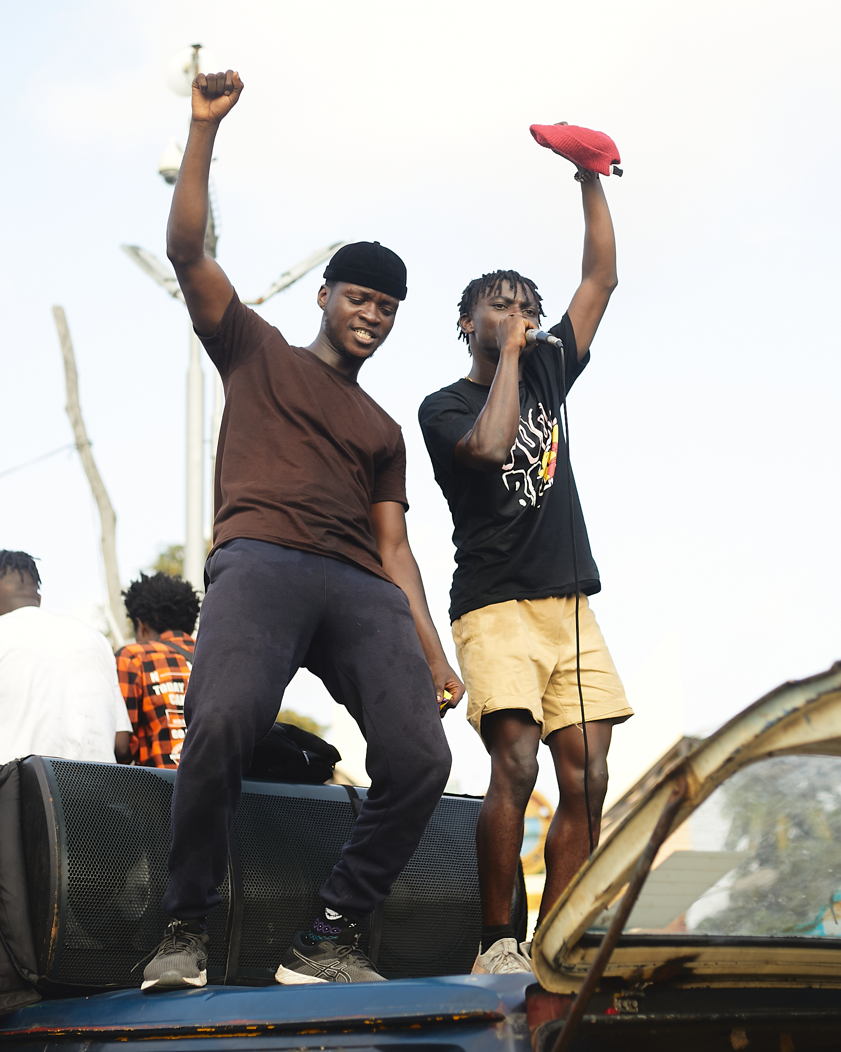 Two protesters at anti-SARS protest in Lagos