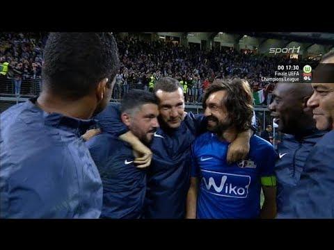 بالفيديو: مباراة مجنونة في ليلة وداع بيرلو