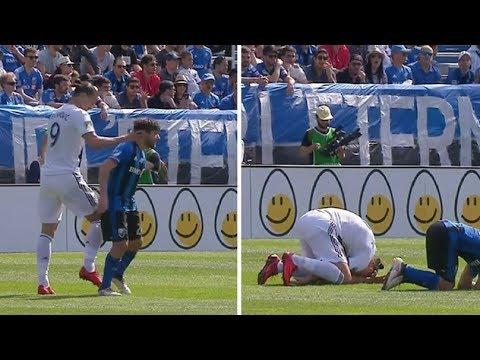 بالفيديو: ابرهيموفيتش يصفع منافساً على وجهه ويُطرد
