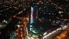 بالفيديو.. صورة محمد صلاح على أعلى بناية في بغداد