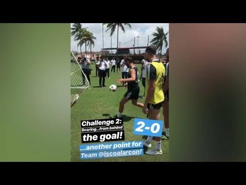 بالفيديو.. إيسكو يسجل هدفا استعراضيا من خارج الملعب!
