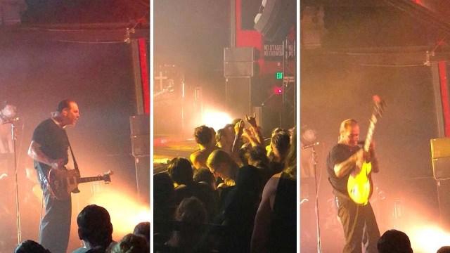 مغني يقفز من خشبة المسرح لضرب أحد المعجبين