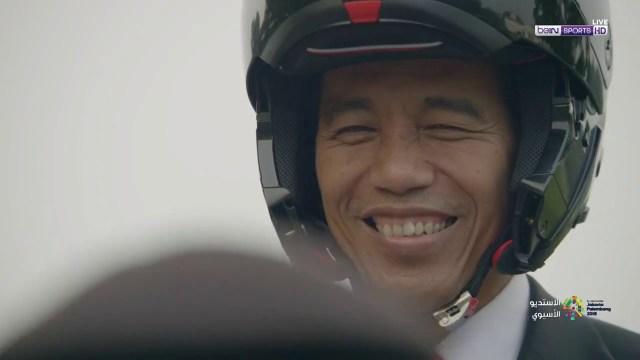 الرئيس الإندونيسي يفتتح بطولة آسيا بطريقة مبتكرة