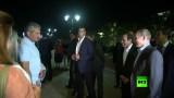 بوتين يسأل مواطنين روس عن مصر خلال جولة مع السيسي
