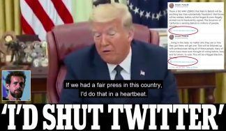 Trump says he Would 'Shut Down' Twitter if he Could as he Signs Executive Order Against 'Anti-conservative Bias' on Social Media and Claims it is 'a Threat to Freedom Itself'