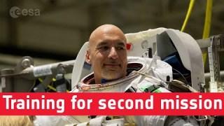 Luca Parmitano training for second mission