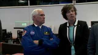 Vice President Pence Tours NASA?s Historic Mission Control in Houston