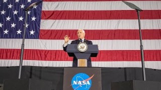 Vice President Mike Pence addresses employees at NASA?s Langley Research Center