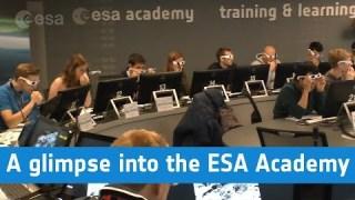 A glimpse into the ESA Academy
