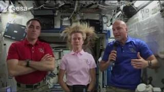 Luca Parmitano and Chris Cassidy explain what happened during EVA 23