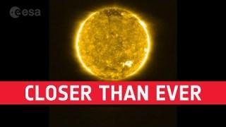 Closer than ever: Solar Orbiter's first views of the Sun