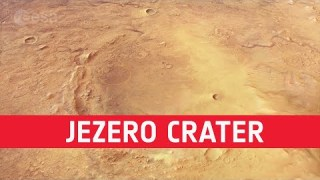 Flight over the Mars 2020 Perseverance rover landing site
