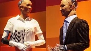 Two AI robots Sophia & Han debate the future of humanity  – Rise 2017