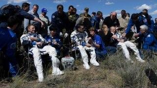 Soyuz TMA-19M landing