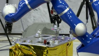 Andreas Mogensen controls ground rover from space