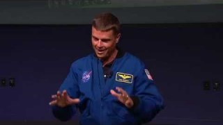 Expedition 41 flight Engineer Astronaut Reid Wiseman Gives Presentation at NASA HQ