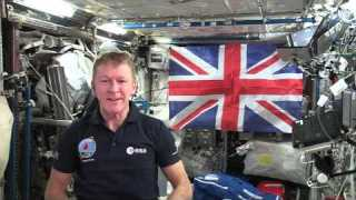 Tim Peake's message to Her Majesty The Queen