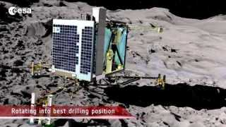 Philae's descent and science on the surface