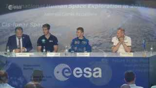 Tim's first news conference back on Earth