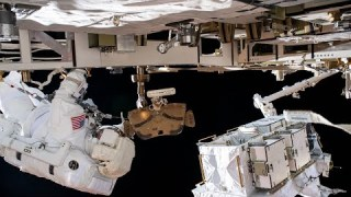 Spacewalk Outside the International Space Station