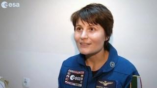 Intervista con Samantha dopo l'atterraggio